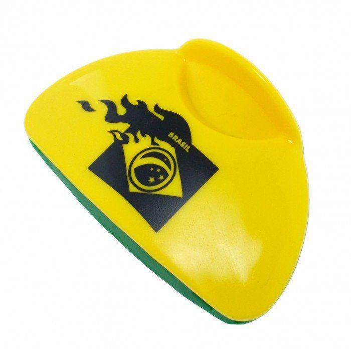 Piranha para Cabelo Verde e Amarelo Brasil - 3 unidades