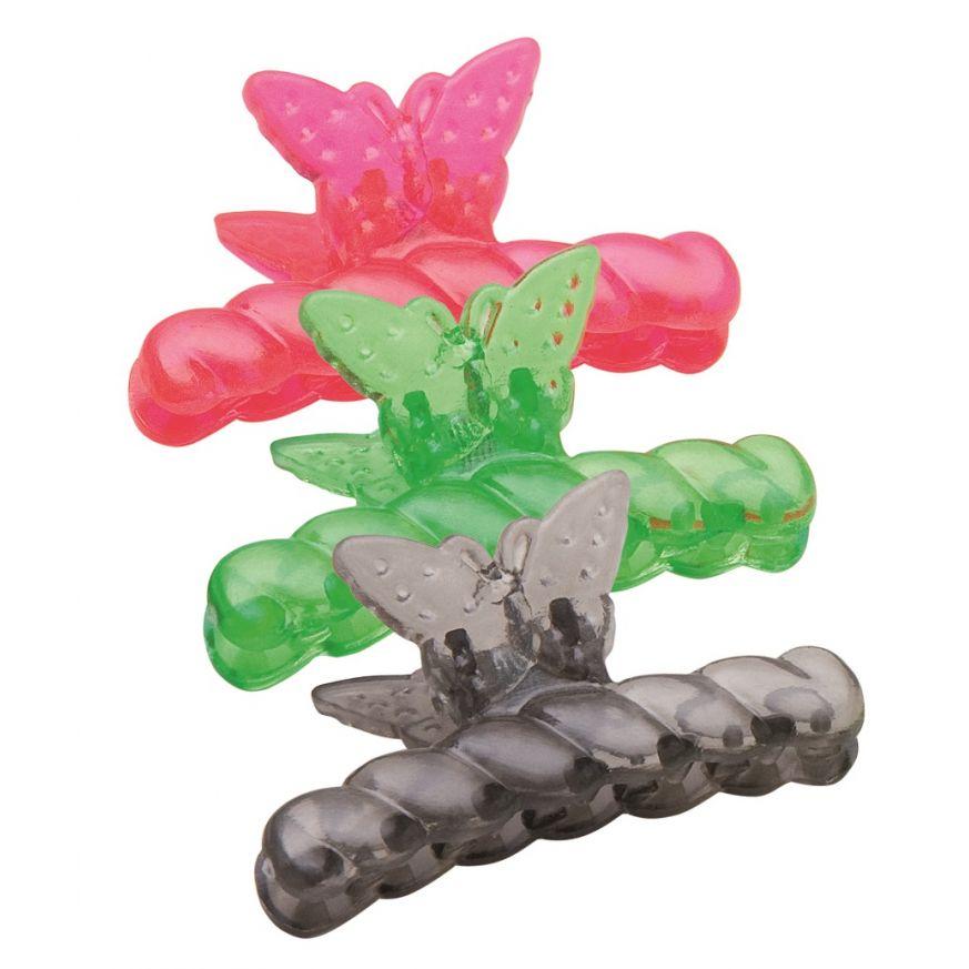 Piranha Plástica Borboleta Modelo Infantil 6 Unidades - Santa Clara