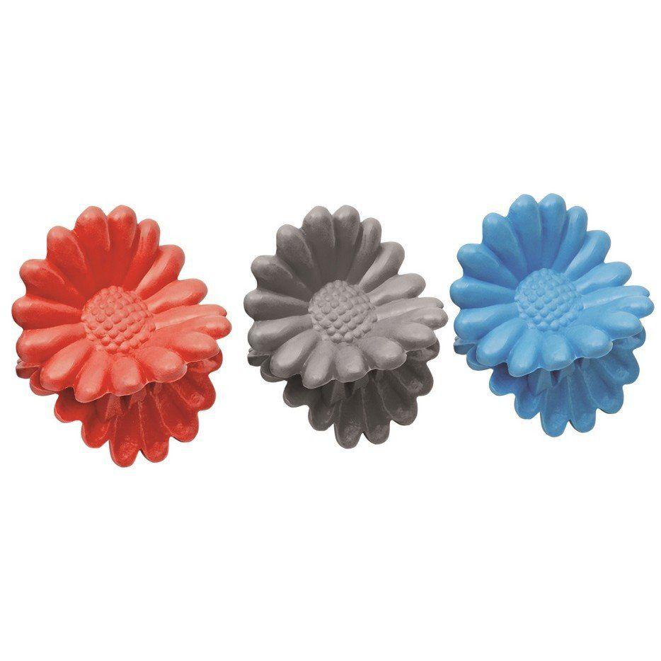Piranha Plástica Infantil Para Cabelos Modelo flor Ref PR-56 Com 06 Unidades