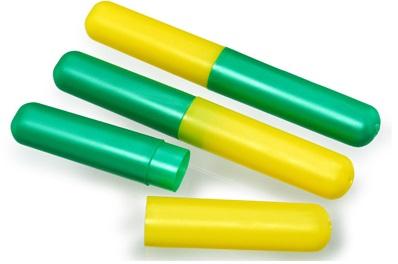Porta Escova De Dentes Verde Amarelo Santa Clara - 12 Unidades