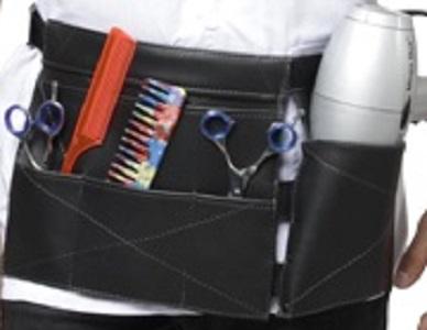 Porta Secador e Acessórios Modelo Tókio De Couro Para Cabeleireiros - Santa Clara