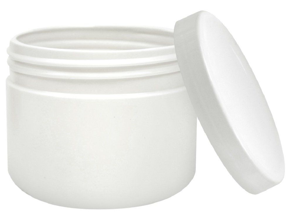 Pote Plástico Branco Multiuso Redondo 350g - Santa Clara