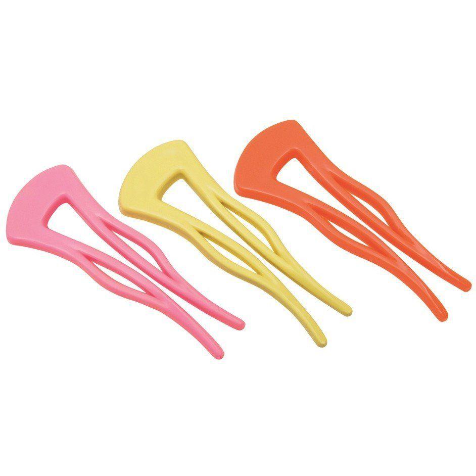 Prendedor Plástico Pequeno Para Cabelos - 03 Unidades
