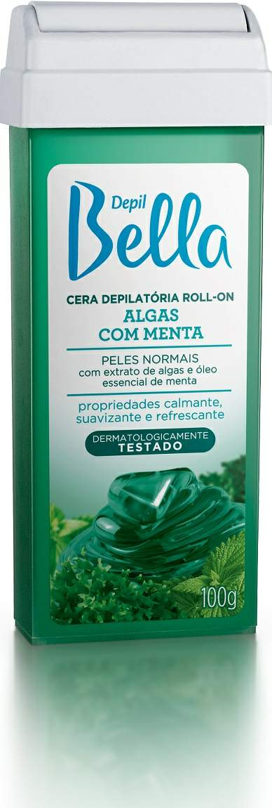 Refil Cera Roll-on Depil Bella - Algas com Menta