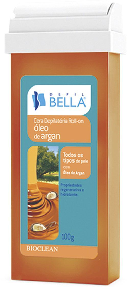 Refil de Cera Roll-on Depil Bella - Óleo de Argan