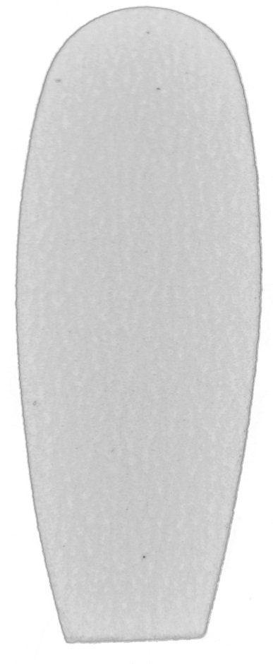 Refil de Lixa Fina Branca Para Os Pés - 50 Unidades Ref 1225/1228