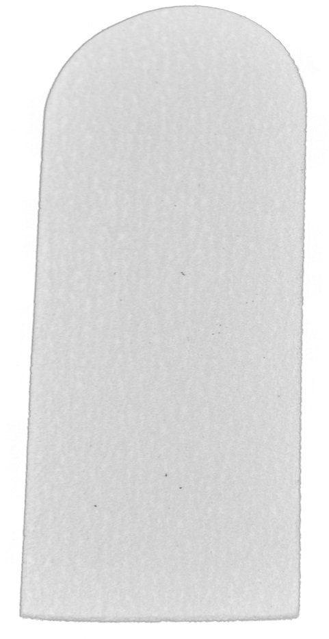 Refil De Lixa Grossa Branca Para Os Pés Descartável - 12 Unidades