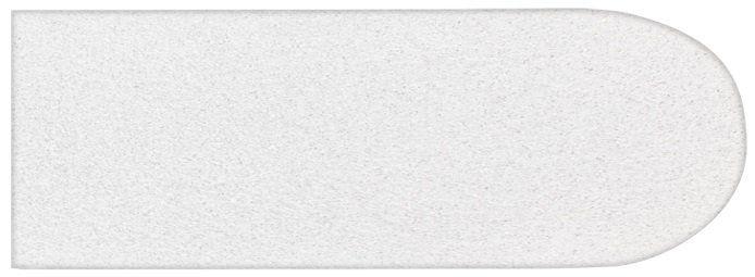 Refil De Lixa Grossa Branca Pés Descartável  Ref 116a - 12 Unidades
