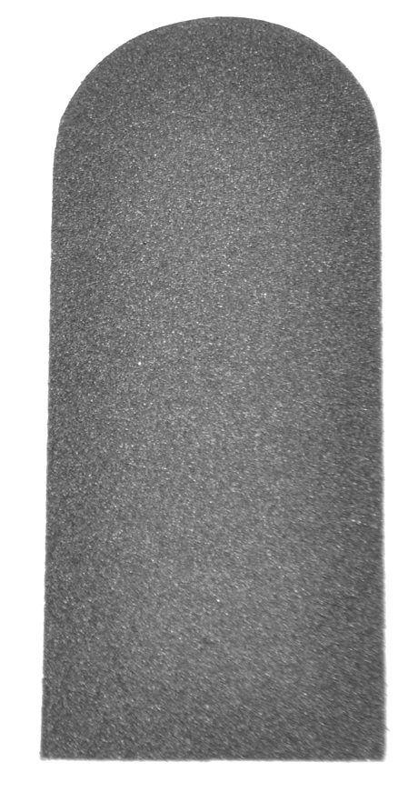 Refil De Lixa Grossa Preta Para Os Pés Descartável - 12 Unidades