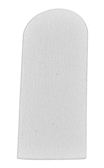 Refil de Lixas Reta Descartáveis para Pés Branca com 12 unid.