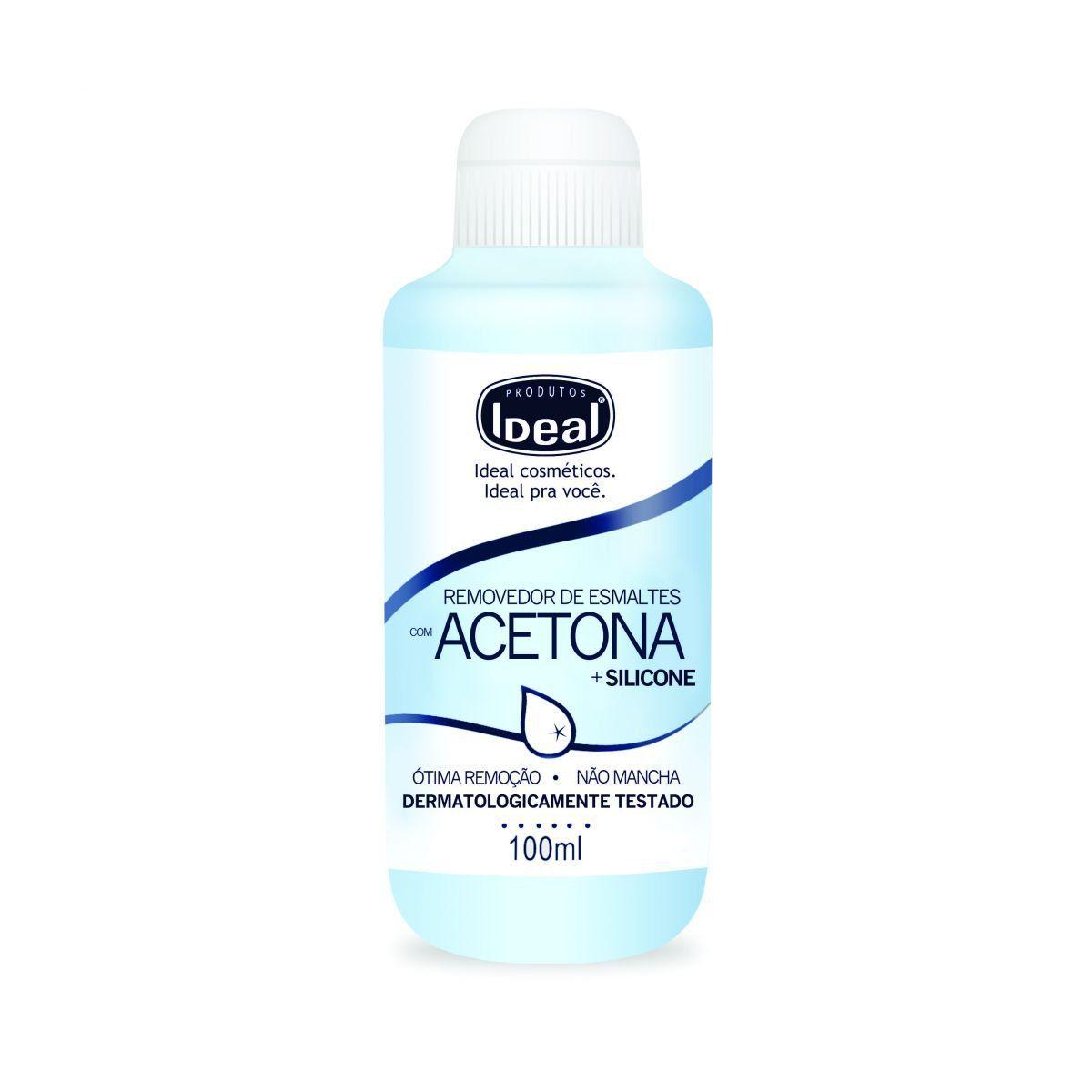 Removedor de Esmaltes com Acetona e Silicone 100ml - Ideal