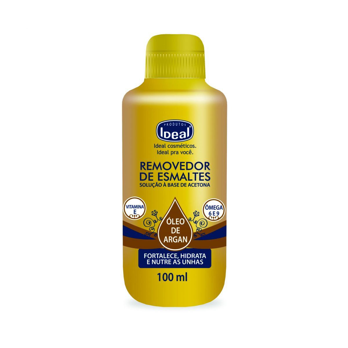 Removedor de Esmaltes Óleo de Argan 100ml - Ideal