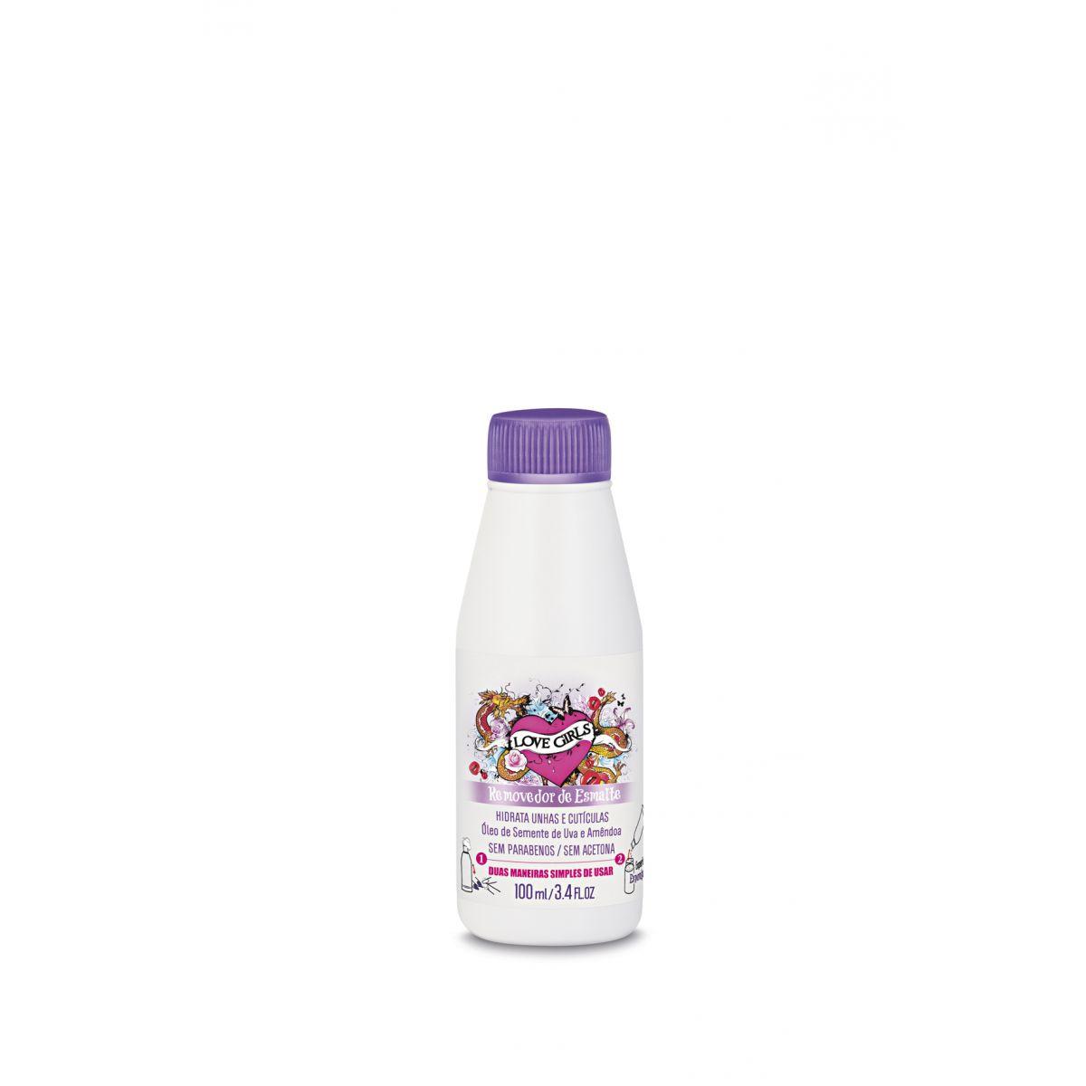 Removedor de Esmaltes Óleo de Uva e Amêndoa - 100 ml