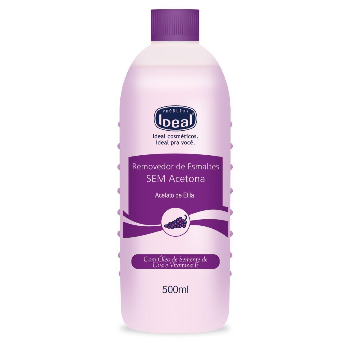 Removedor de Esmaltes Sem Acetona 500ml Ideal