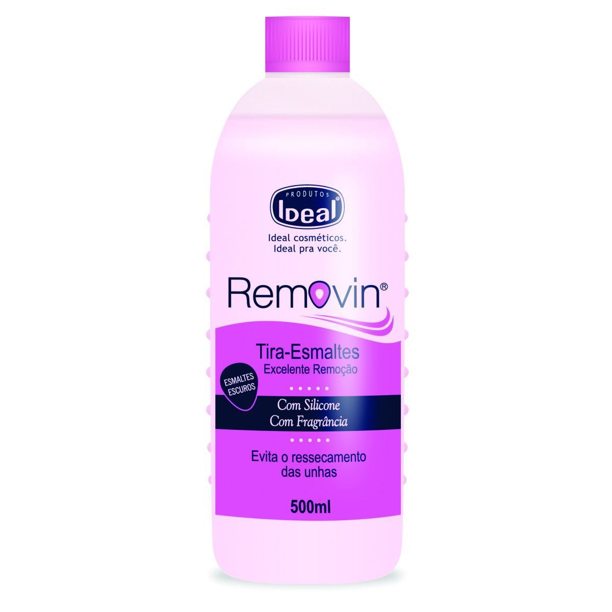 Removedor Tira Esmaltes Removin 500ml - Ideal