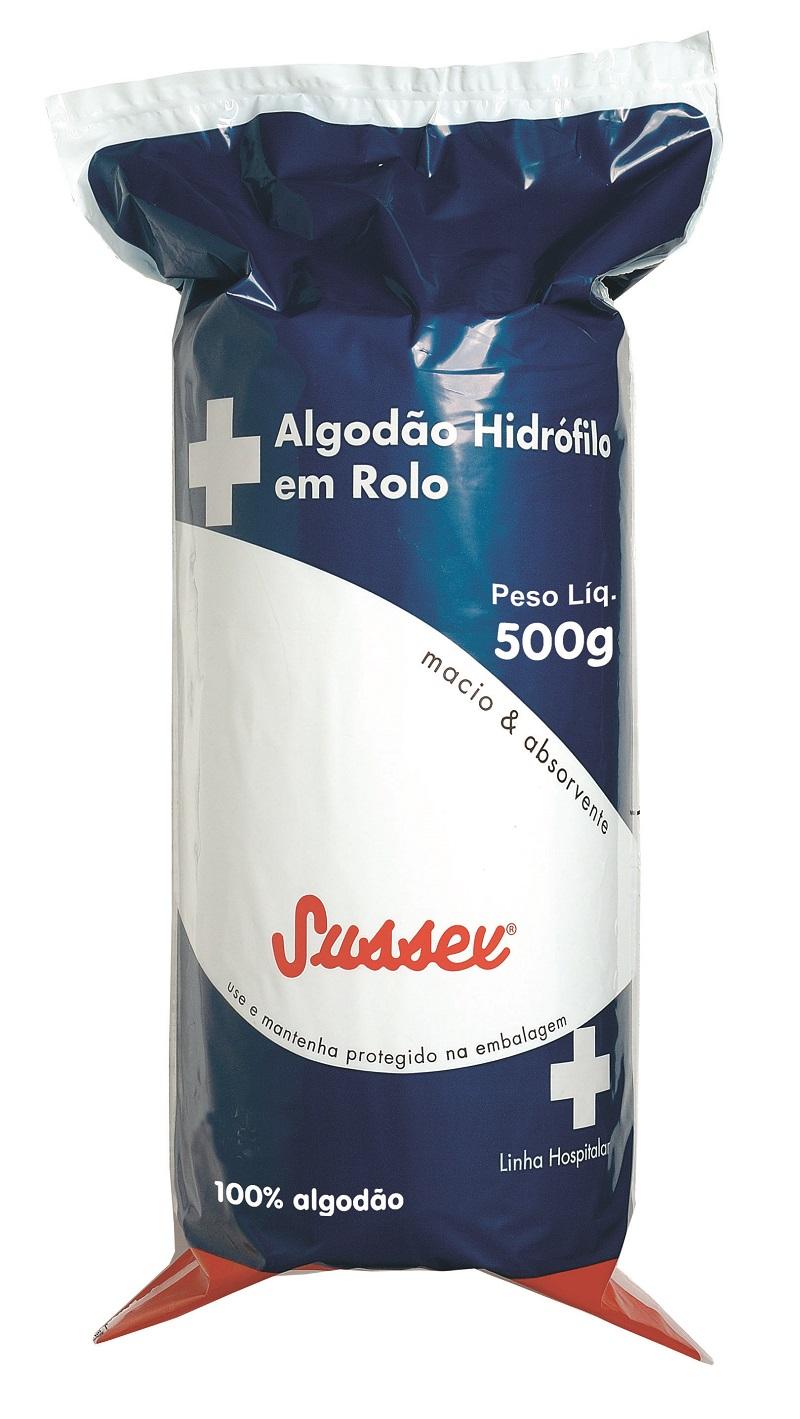 Rolo de Algodão Hidrófilo Sussex - 500g