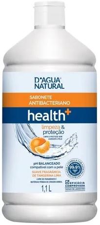 Sabonete Antibacteriano Health+ Limpeza e Proteção 1,1L- Dágua Natural