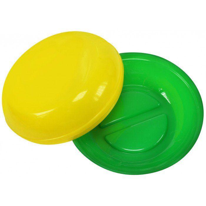 Saboneteira Plástica Redonda Verde e Amarelo Brasil
