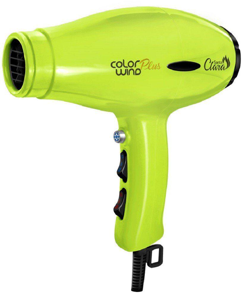 Secador de Cabelo Verde Limão Color Wind Plus 2400watts - Santa Clara