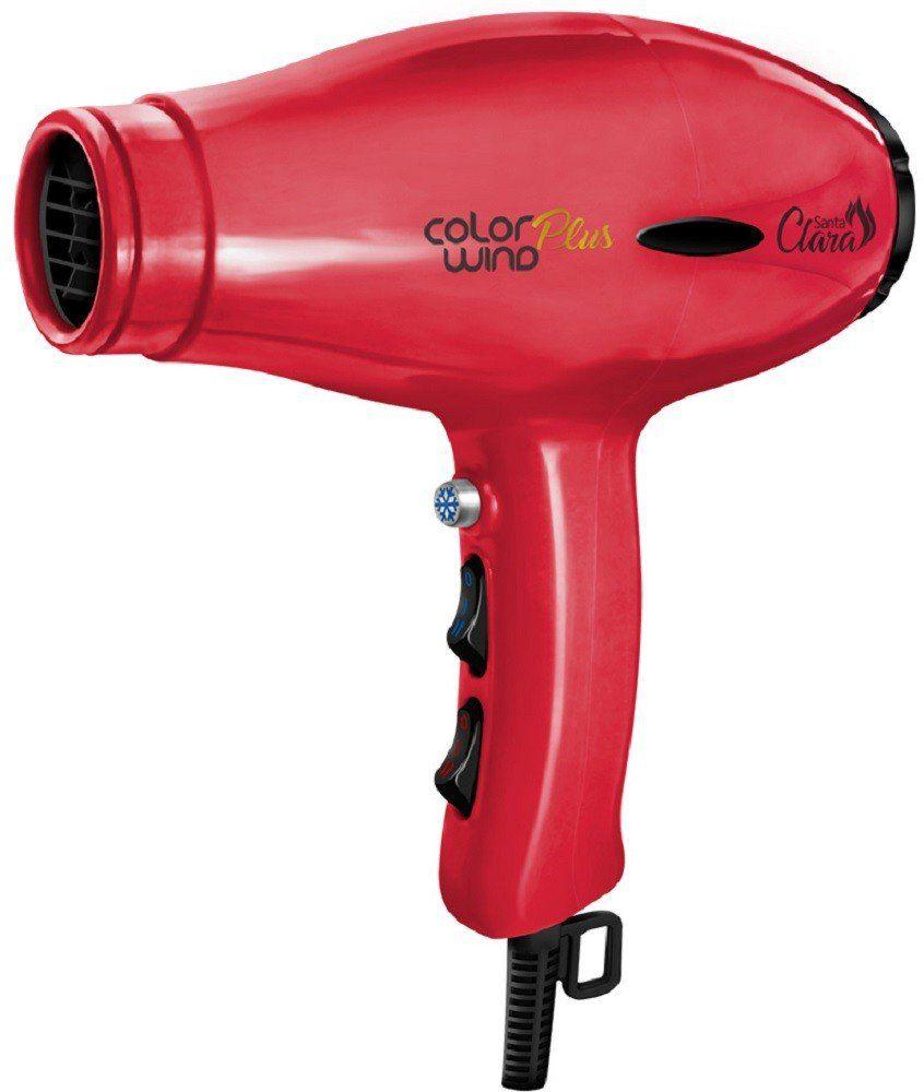 Secador de Cabelo Vermelho Color Wind Plus 2400watts - Santa Clara