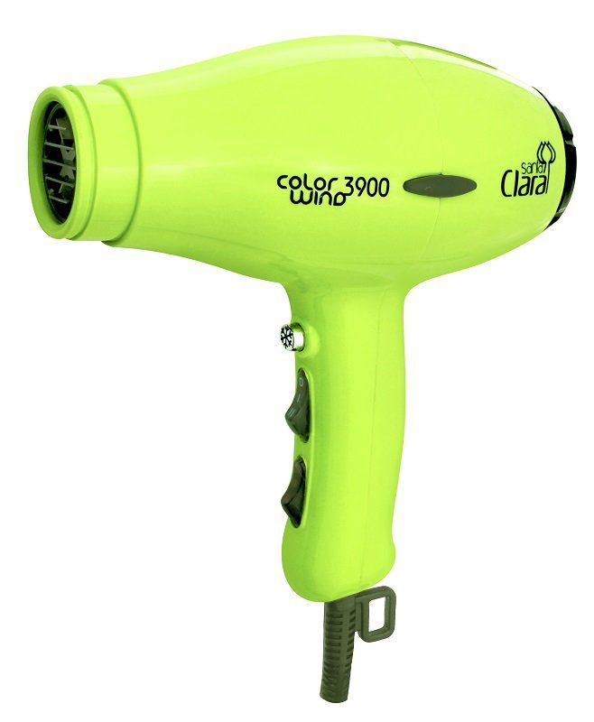 Secador De Cabelos Profissional Color Wind Santa Clara - 2100watts Verde Limão 220v
