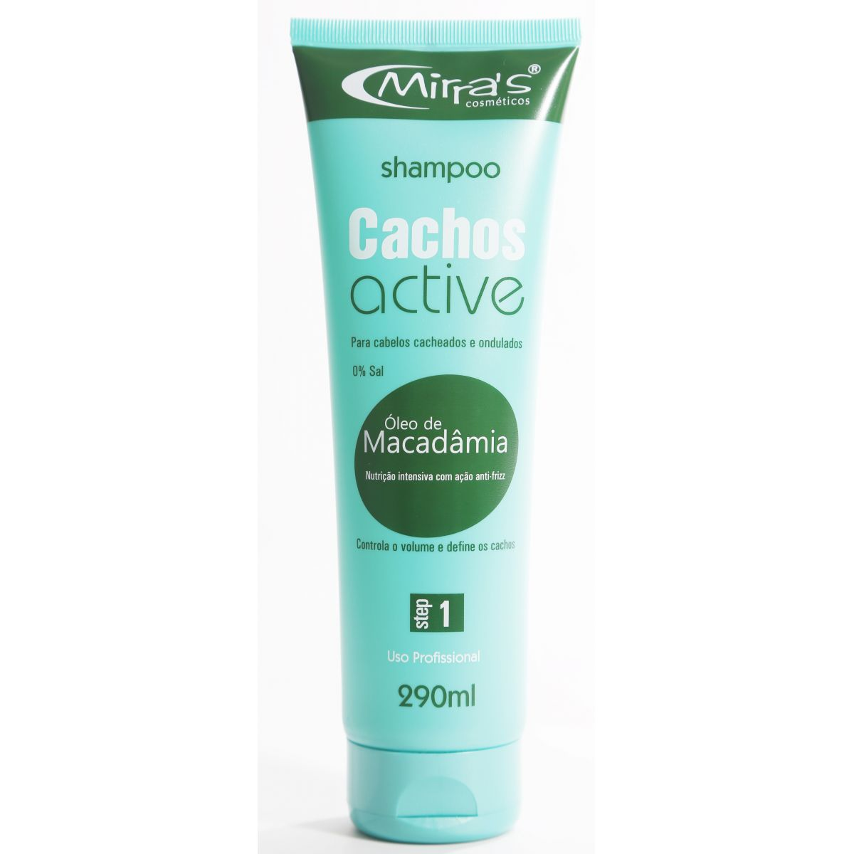 Shampoo Cachos Active Sem Sal Cabelos Ondulados 290ml - Mirra´s