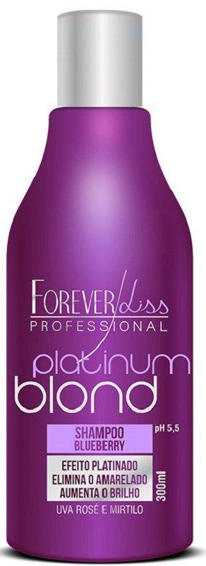 Shampoo Matizador Blueberry Platinum Blond 300ml - Forever Liss