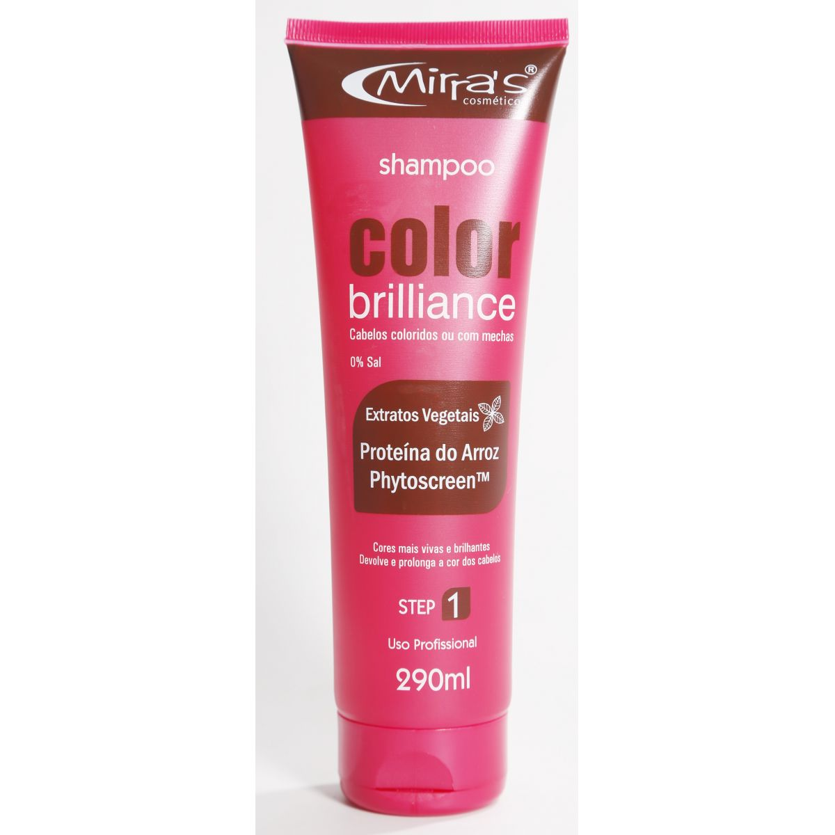 Shampoo Sem Sal Color Brilliance Proteína do Arroz 290ml