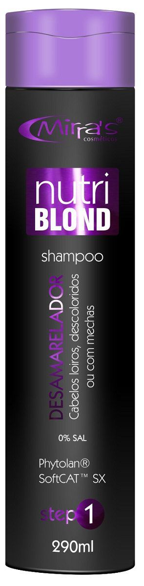 Shampoo Sem Sal Desamarelador Nutri Blond 290g - Mirra´s
