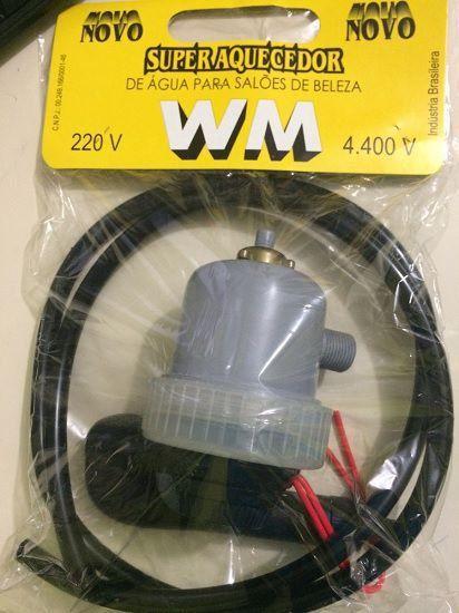 Super Aquecedor de Água 110v 220v WM para Lavatórios - Cabeleireiros - Salão de Beleza