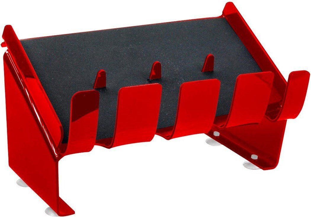 Suporte Acrílico 3mm Vermelho Para até 4 Maquinas de Corte - Santa Clara