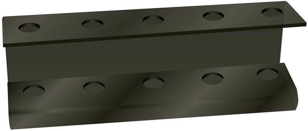 Suporte Acrílico 5mm Preto Para Escova de Cabelo - Santa Clara