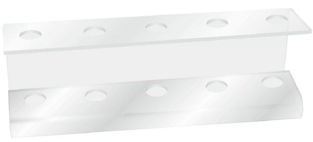 Suporte Acrílico 5mm Transparente Para Escova de Cabelo - Santa Clara