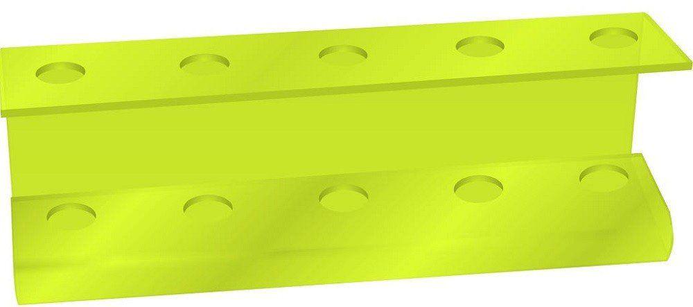 Suporte Acrílico 5mm Verde Limão Para Escova de Cabelo - Santa Clara