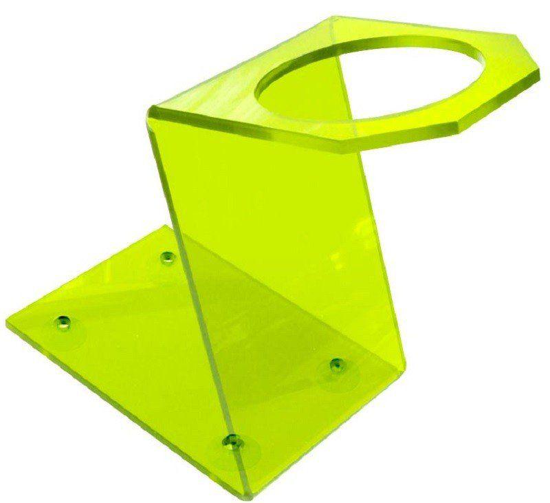 Suporte Acrílico 5mm Verde Limão para Secador - Santa Clara