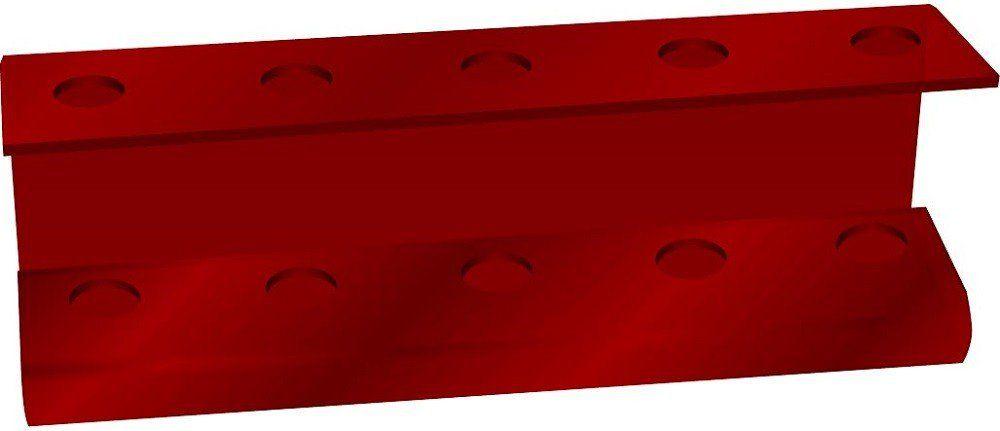 Suporte Acrílico 5mm Vermelho Para Escova de Cabelo - Santa Clara