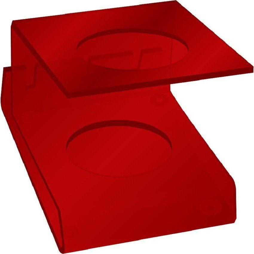 Suporte Acrílico 5mm Vermelho Para Máquina de Corte - Santa Clara