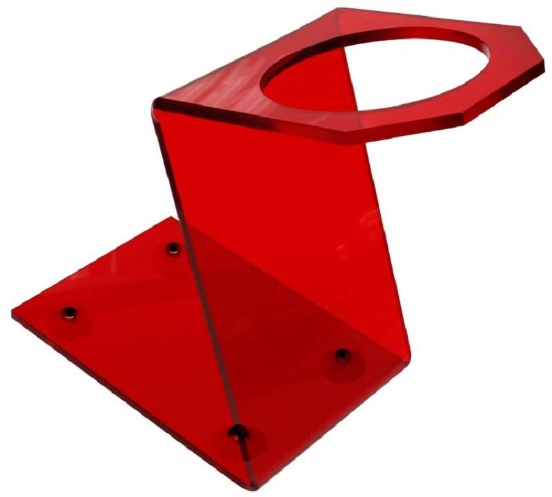 Suporte Acrílico 5mm Vermelho para Secador - Santa Clara