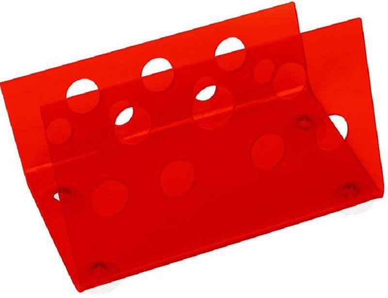 Suporte Acrílico Vermelho 3mm Para Tesouras Modelo Horizontal - Santa Clara