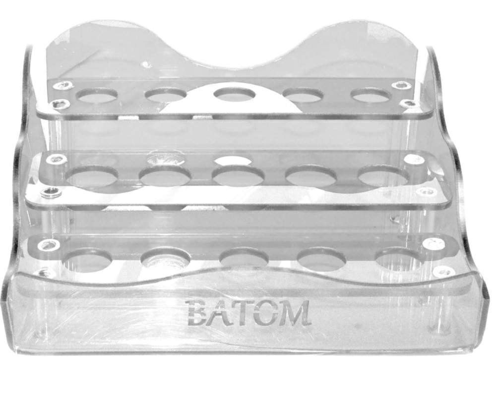 Suporte em Acrílico Transparente Para Batom com 15 Cavidades - Santa Clara