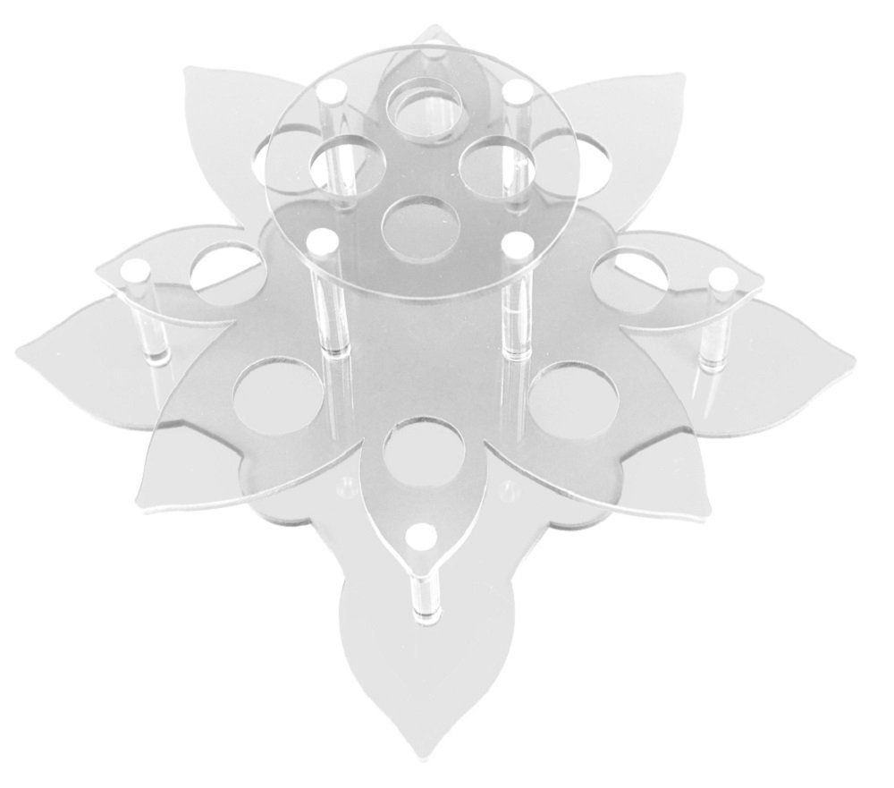 Suporte em Acrílico Transparente Para Batom e Gloss com 12 Cavidades - Santa Clara