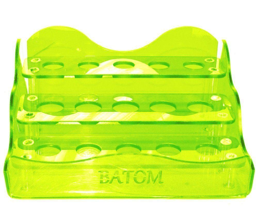 Suporte em Acrílico Verde Limão Para Batom com 15 Cavidades - Santa Clara