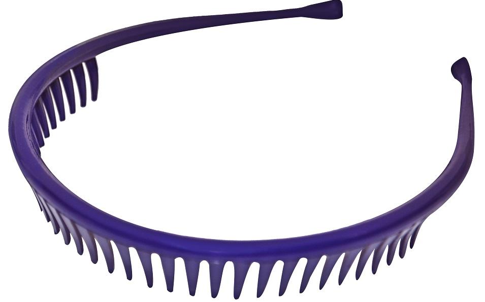Tiara  Especial Lisa Com Dentes Para Cabelos - 01 Ou 12 Unidades
