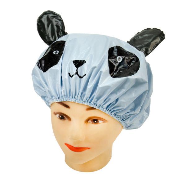 Touca Azul Em PVC Perfumado Modelo Infantil Para Banho