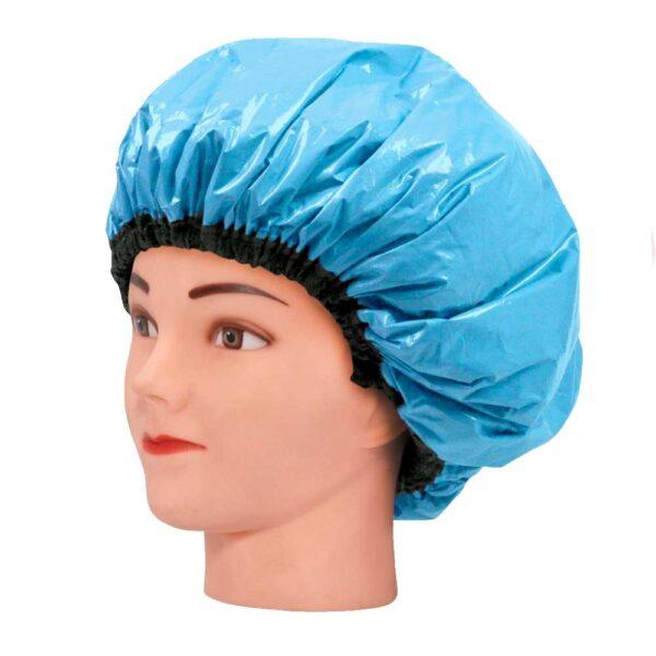 Touca De Amaciamento Capilar Metalizada Com Isopor - Azul