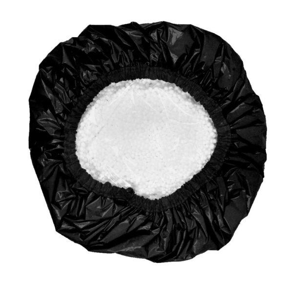Touca De Amaciamento Capilar Metalizada Com Isopor - Preto