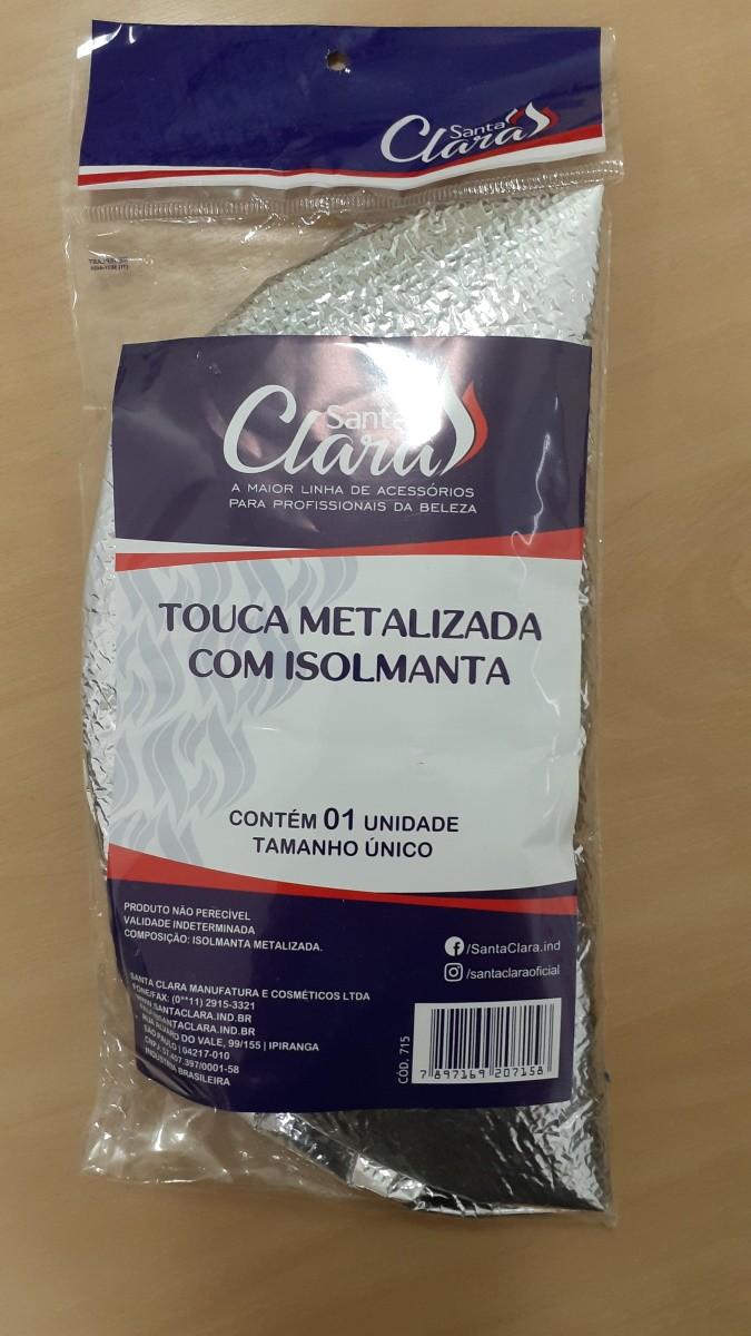 Touca Metalizada com Isolmanta Prata - Santa Clara