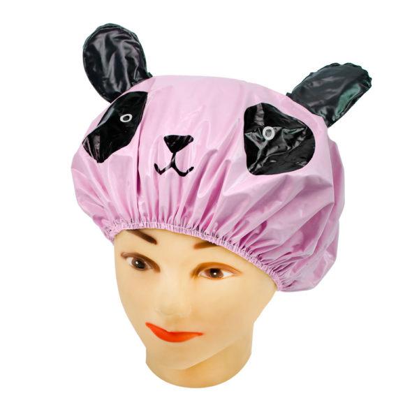 Touca Rosa Em PVC Perfumado Modelo Infantil Para Banho