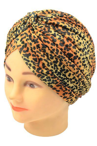 Touca Turbante Estampada Yellow Santa Clara - 01 Unidade