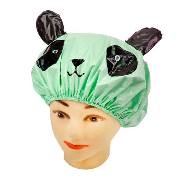 Touca Verde Em PVC Perfumado Modelo Infantil Para Banho